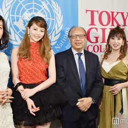(左から)早見優、香里奈、アンワルル K.チャウドリー国連永久大使、大場久美子、小松田有理(C)モデルプレス