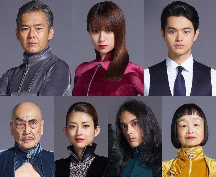 (上段左から)渡部篤郎、深田恭子、瀬戸康史(下段左から)麿赤兒、小沢真珠、栗原類、どんぐり(C)フジテレビ