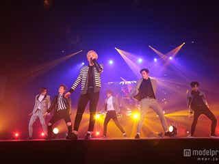 BEAST、ジュンヒョンの誕生日にツアー完遂 ファン5000人にサプライズ発表も<ライブレポ>