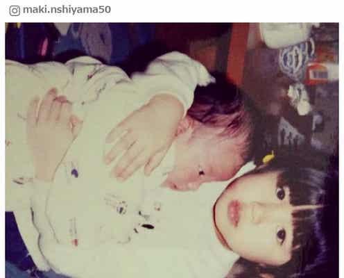 """西山茉希、幼少期の写真公開で「お人形さんみたい」「可愛い」の声 お茶目な""""前髪""""にツッコミ"""