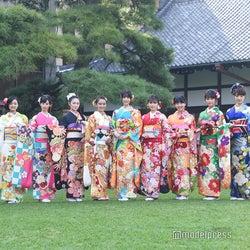 岡田結実・藤田ニコル・高橋ひかるらオスカー美女11人、艶やか晴れ着姿で集結
