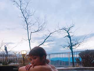 くみっきー、絶景露天風呂を堪能