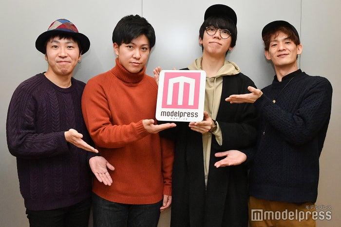 モデルプレスのインタビューに応じた、sumika/左から:荒井智之、小川貴之、片岡健太、黒田隼之介(C)モデルプレス