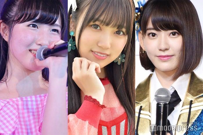 (左から)本田仁美、矢吹奈子、宮脇咲良(C)モデルプレス