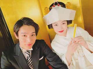 「なつぞら」中川大志、広瀬すずは「心から尊敬する人」 なつ&坂場の結婚式ショット公開
