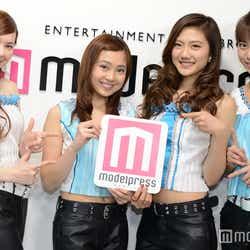 """モデルプレス - """"4K映像で光る""""美女グループ・4K Girls、「モデルプレスTV」に生出演<スタジオ潜入&インタビュー>"""