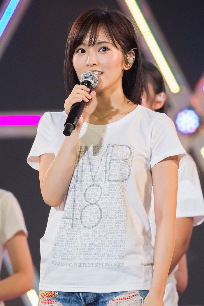 ソロツアーを行うことを発表した山本彩(C)NMB48