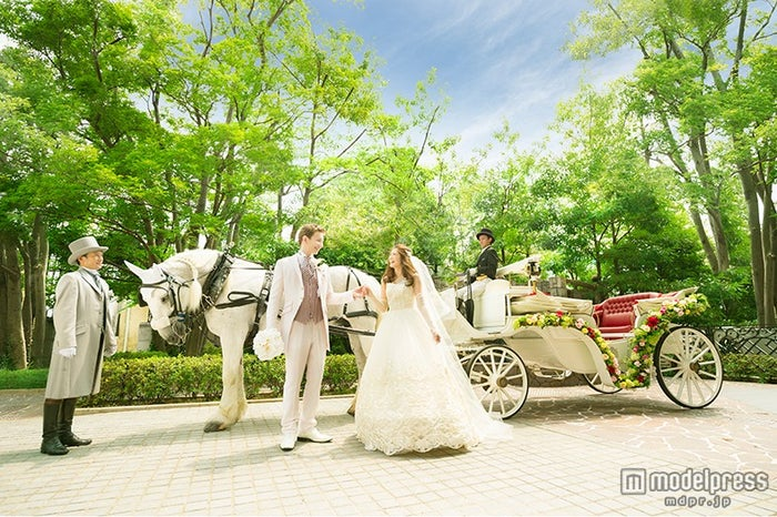 白馬による結婚式の演出