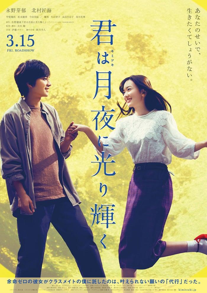(左から)北村匠海、永野芽郁(C)2019映画「君は月夜に光り輝く」製作委員会