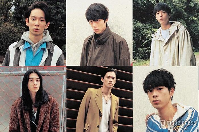 「MEN'S NON-NO」モデルが「Girls Award」に総出演(左上から時計回り)小松史弥、坂口健太郎、高橋義明、成田凌、山口智也、柳俊太郎【モデルプレス】