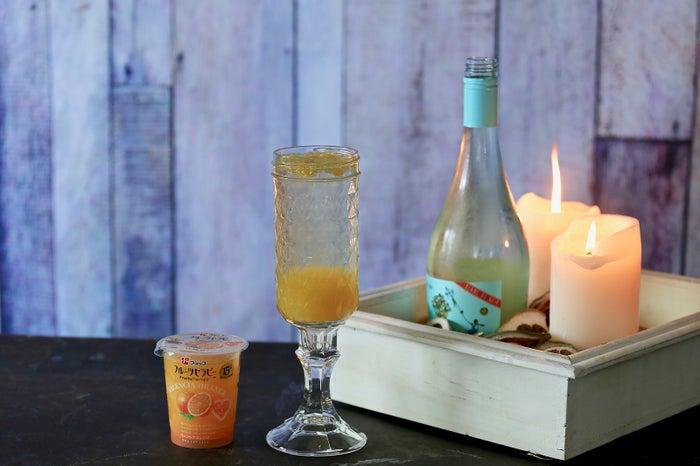 バレンシアオレンジ+シャンパン~セラピーフロート・ドリンク~
