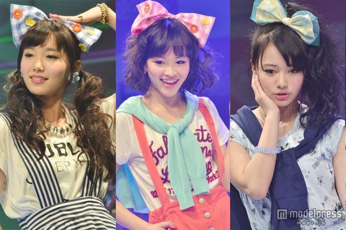 「nicola 東京開放日2014」に登場した(左から)飯豊まりえ、藤麻理亜、山本舞香