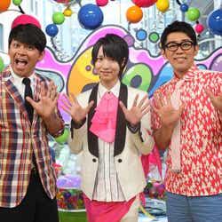 岡田圭右、西岡健吾、ビビる大木(画像提供:所属事務所)