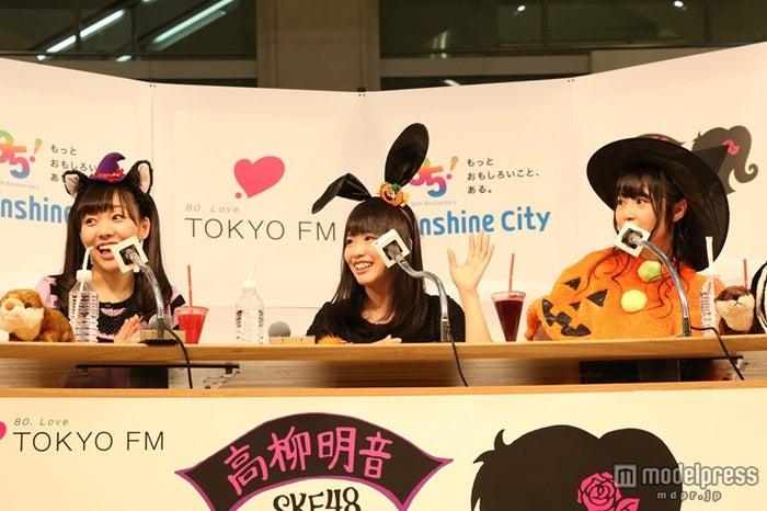 「SKE48高柳明音の暗黙の了解」の公開収録を行った(左から)SKE48須田亜香里、松村香織、高柳明音