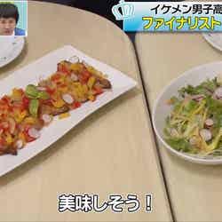 関東グランプリ・高橋文哉が作った鯵のエスカベッシュとミックスサラダ(C)AbemaTV