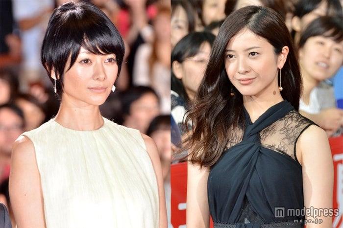 「第5回 TAMA映画賞」の「最優秀女優賞」を受賞した(左から)真木よう子、吉高由里子