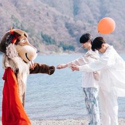 長谷川美月、杢代和人、りゅうと「恋とオオカミには騙されない」(C)AbemaTV, Inc.
