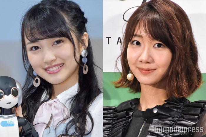 「AKB48グループ センター試験」で1位に輝いた向井地美音と2位の柏木由紀 (C)モデルプレス