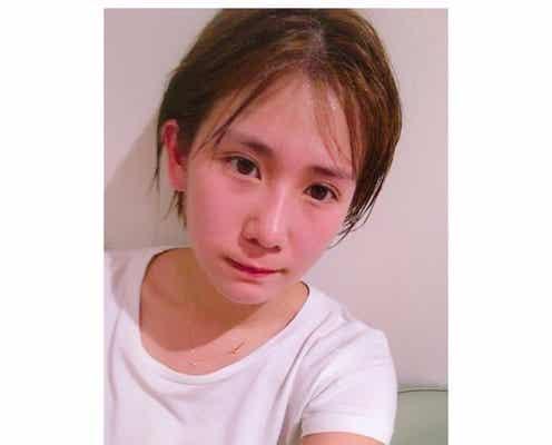 """岡井千聖、""""汗だく""""湯上がりショットにファン興奮!「すっぴん?」「かわいい」"""