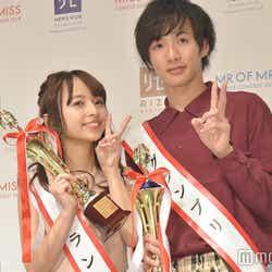 ミスオブミス・グランプリの黒口那津さん、ミスターオブミスター・グランプリの水澤崚さん(C)モデルプレス
