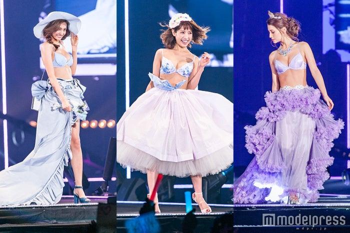 左から:香川沙耶、舟山久美子、ダレノガレ明美らランジェリー姿で美ボディ披露 「ラヴィジュール(Ravijour)」から新コレクションがデビュー