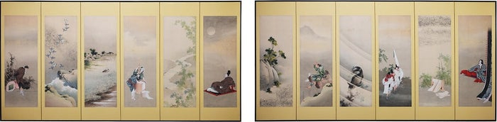 玉川六景図/Facsimiles of works in the collection of the Freer Gallery of Art, Smithsonian Institution, Washington DC:Gift of Charles Lang Freer, F1904.204-205