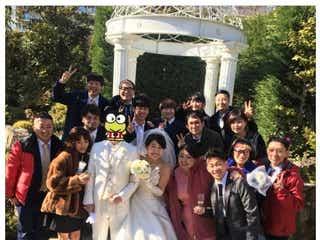 横澤夏子結婚式、渡辺直美・ジャンポケ太田夫妻らお笑い芸人仲間が豪華集結