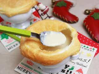 クリスマスに♪冷凍パイシートで簡単ポットパイ!~カリフラワーとねぎのポタージュ~