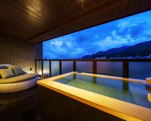 長野の温泉宿「あぶらや燈千」プライベートサウナ×露天風呂×シェフズテーブルの新客室