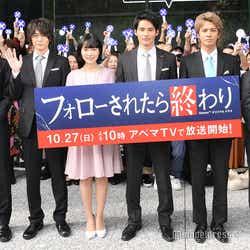 (左から)松大航也、犬飼貴丈、小川紗良、岡田建史、中尾暢樹、ゆうたろう(C)モデルプレス