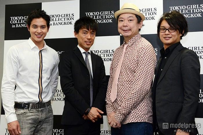 左から:ジェームス・ジラユ、村上範義氏、鈴木おさむ氏、板橋優樹氏【モデルプレス】