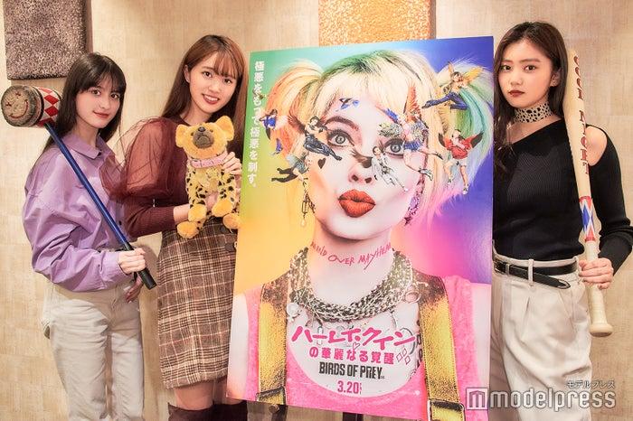 (左から)木内舞留、杉本愛莉鈴、岡本莉音(C)モデルプレス