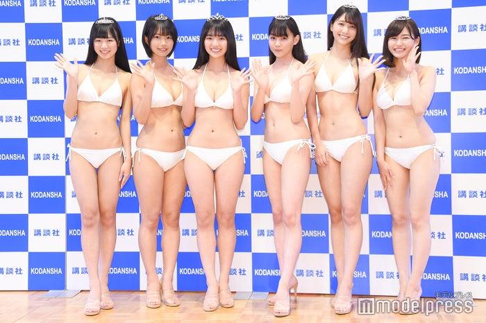 (左から)ぴーぴる、夏目綾、豊田ルナ、吉澤遥奈、山口はのん、桜田茉央 (C)モデルプレス
