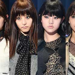 (左から)中条あやみ、新木優子、チャン・ウォニョン、渡邉理佐(C)モデルプレス
