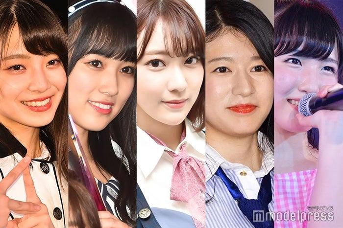 左から:後藤萌咲、矢吹奈子、宮脇咲良、竹内美宥、本田仁美 (C)モデルプレス