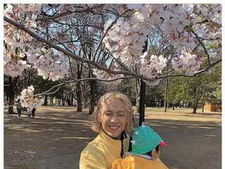りゅうちぇる、愛息・リンク君と初お花見「桜のこともっと好きになった」