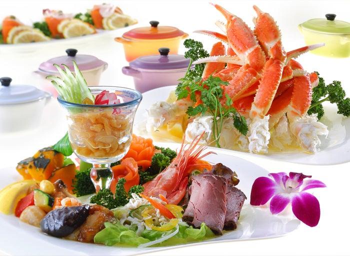 夕食ブッフェ料理イメージ/画像提供:あさやホテル