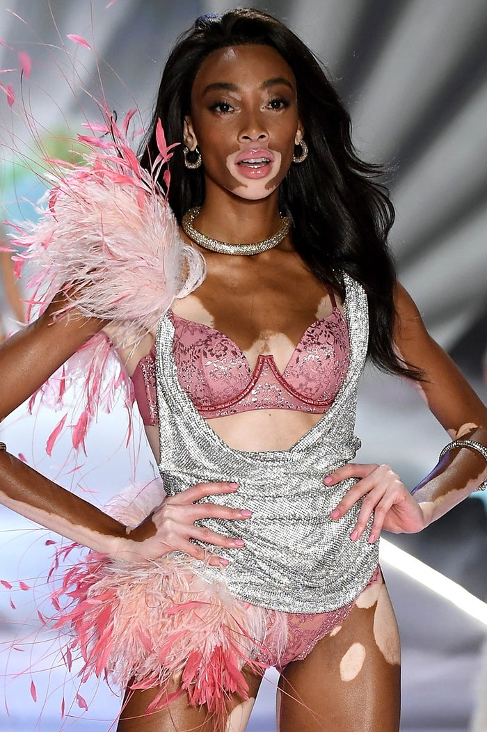 ウィニー・ハーロウ「Victoria's Secret Fashion Show 2018」/photo:GettyImages