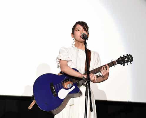 吉岡里帆、人生初ライブで熱唱 涙も浮かべる<音量を上げろタコ!>