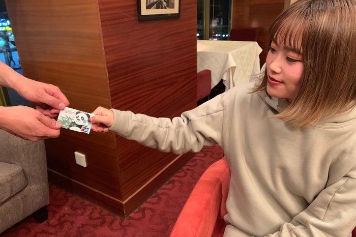 「UnionPay(銀聯)カード」でスムーズなお支払い/中国はチップの心配もありません(提供写真)