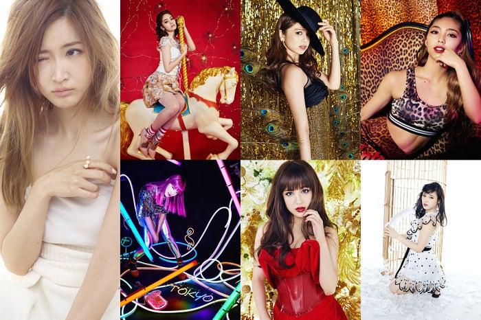 (左から時計回りに)紗栄子、楓、佐藤晴美、SAYAKA、山口乃々華、藤井夏恋、須田アンナ(提供写真)