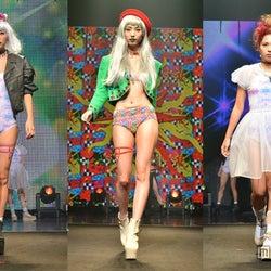 人気モデル、セクシーコスチュームで集結 華やかファッションショー<写真特集>