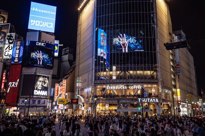 渋谷スクランブル交差点ビジョンの様子(提供写真)
