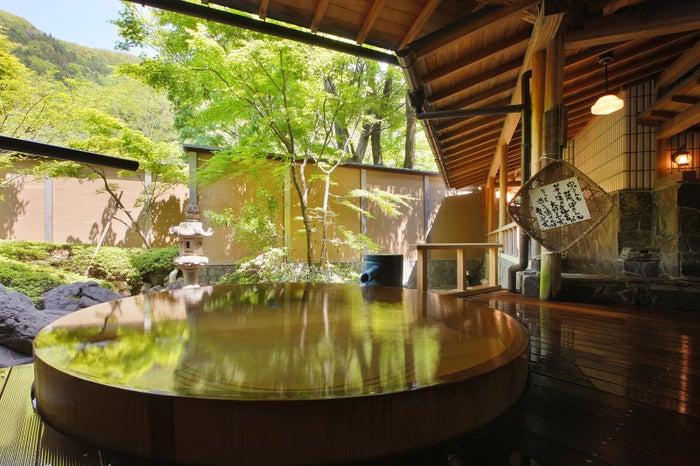 庭園露天風呂/画像提供:ホテル華の湯