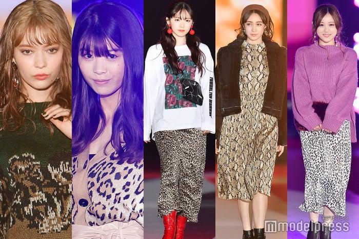 (左から)八木アリサ、馬場ふみか、鈴木愛理、藤井サチ、星野みなみ(C)モデルプレス