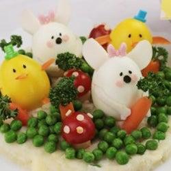 イースターレシピ☆ゆで卵で作るひよことうさぎのサラダ