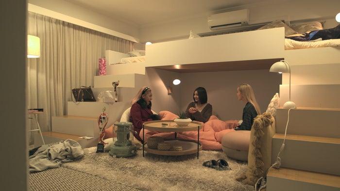 花、夢、ビビ「TERRACE HOUSE TOKYO 2019-2020」36th WEEK(C)フジテレビ/イースト・エンタテインメント