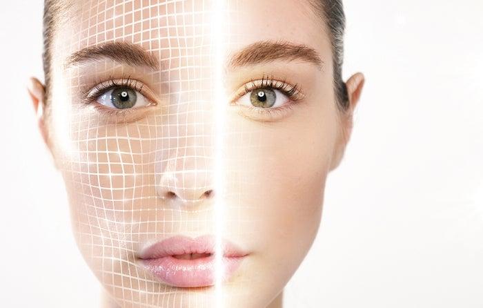 3D認識が顔のパーツを立体的に描写 ※イメージ画像