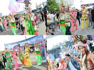 「ULTRA JAPAN」でゲリラショー 人気モデルらが異色を放つパフォーマンス