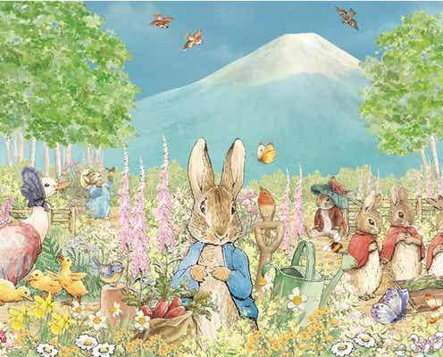 首都圏最大級の英国式庭園「ピーターラビット イングリッシュガーデン」富士山と花々が共演